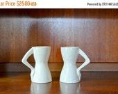 SALE 25% OFF vintage figural ceramic coffee mugs