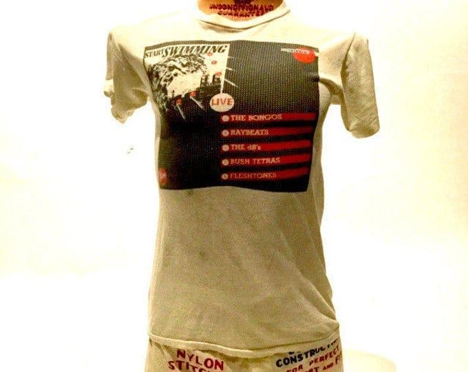 Vintage Start Swimming Vinyl, LP, Album, Compilation Tee Shirt 80's (OS-TS-69)