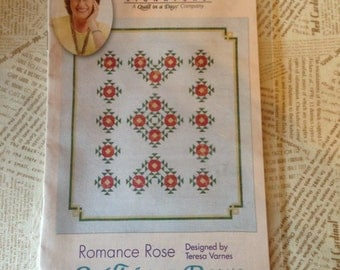 Quilt in a Day Romance Rose Quilt Pattern
