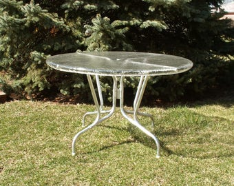 Vintage Umbrella Table Patio Table Outdoor Table Local PICK UP only