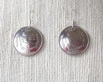 State Quarter Earrings - Alabama 2003 ON SALE