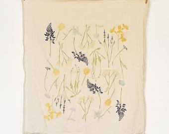 Northern Region Wildflowers Towel : Flour Sack Kitchen Tea Towel