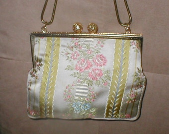 Vintage Tapestry Brocade Evening Purse by DELILL