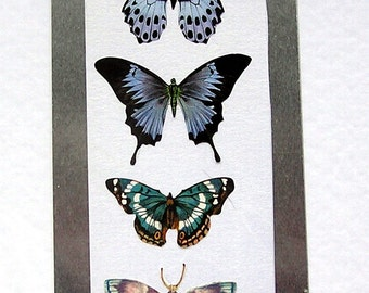 Butterflies - Hand Crafted 3D Decoupage Card, Blank for any Occasion (2085), Birthday Card, Layered Card, Blue Butterfly, Papillon