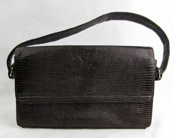 Vintage 1950 Leather Snake Skin Koret Handbag and Coin Purse