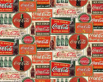 Vintage Coca-Cola from Sykel Enterprises - Full or Half Yard Coke Bottles, Coke Signs