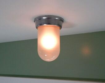 "Vintage ""Vapor Lock"" Type Light Fixture Ceiling"