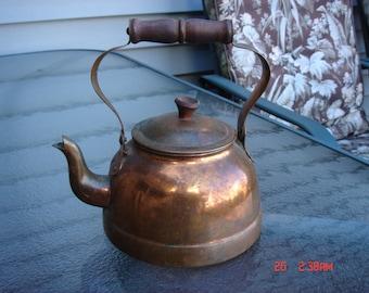 Vintage Copper Tea Pot/Kettle - Made in Portugal
