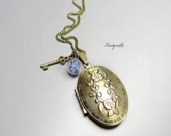 Photo Locket - forget-me-not