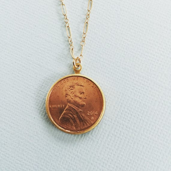 Luck be a Lady | handmade lucky penny necklace