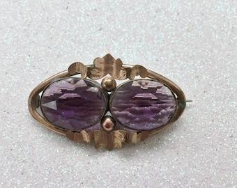 Original Victorian Amethyst Brooch