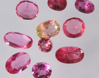 6.7 cts hot pink tourmaline faceted oval cut lot afghanistan