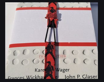 Bookmark, Elvis Fabric Bookmark, Elvis, Button Bookmark, Adjustable, The King Of Rock & Roll Bookmark