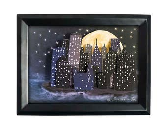 Midnight City- Limited Edition Shadow Box Wall Art