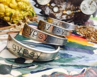 Silverplated spoon bracelet gypsy