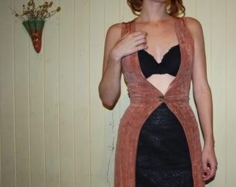 Extra long lush pink vest