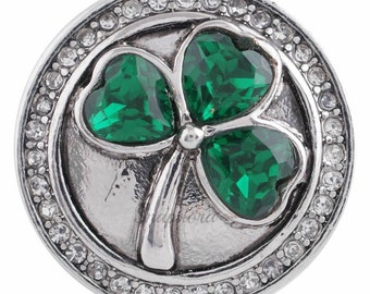 Clover leaf snap charm for 18-20 mm snap jewelry including Ginger Snaps Jewelry