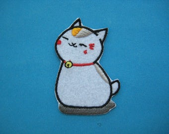 CUTE~ Iron-on Embroidered Patch Nyanko Sensei 2.4 inch