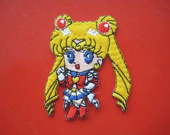 SALE~  Self-adhesive/ Iron-on Embroidered Patch Sailor Moon 2.25 inch