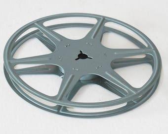 Vintage 5 inch Blue 8mm Movie Film Reel