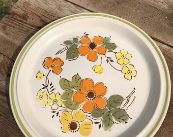 Vintage Harvest Collection Serving Plate/ Mointain Flower