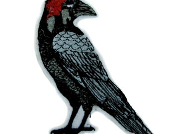Death Raven Crow Patch Iron on Applique Alternative Gothic Clothing - YDS-PA-408-Patch