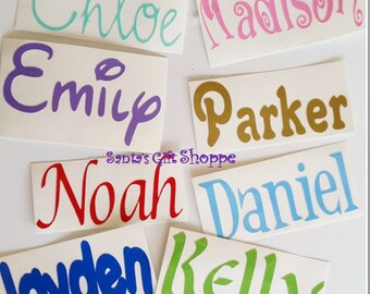 Name Decal - Name Sticker - Vinyl Name Decal - Personalized Decal - Small Vinyl Decal - Vinyl Decal -vinyl decal sticker -personalized names