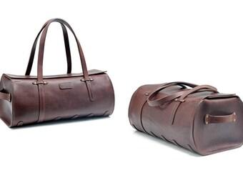 Duffel Bag // Leather carry-on // Sports Bag // DE BRUIR
