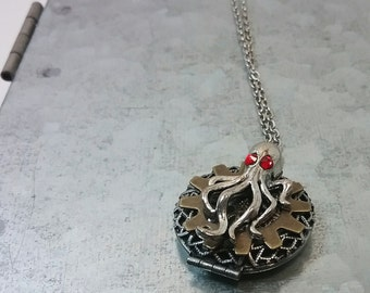 Kraken Treasure Locket - Steampunk Keepsake Necklace