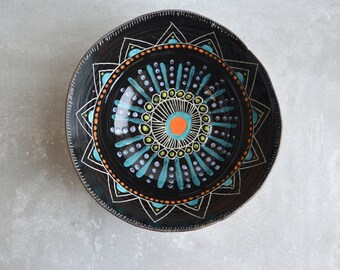 P A I N T E D   S U N S E T || Stoneware serving bowl