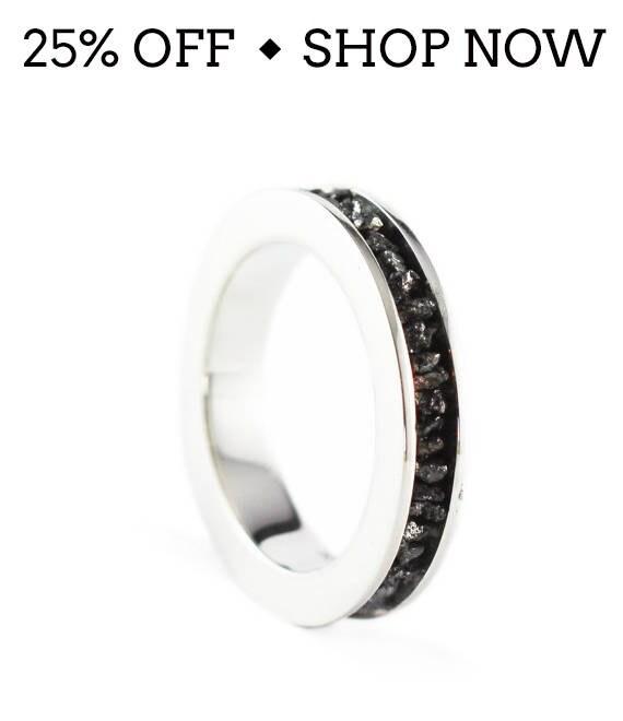 SALE Black Diamond Ring Uncut 14k White Gold Wedding Band Set Personalize Jewelry