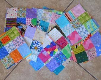 """UFO - unfinished quilt top - 43 quantity 9 patch squares.  6 1/2"""" squares"""