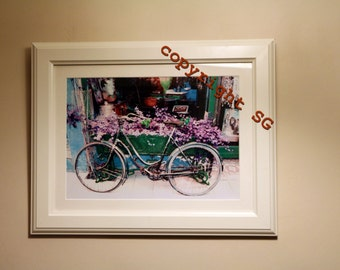 Framed french Bicycle photograph