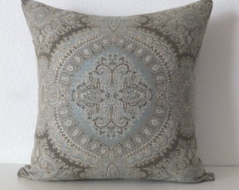 Stroheim Brianza Lace Sky Medallion Pillow Cover