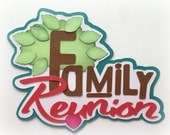 Family reunion title premade paper piecing 3d die cut for scrapbooks cards planner project life by my tear bears kira