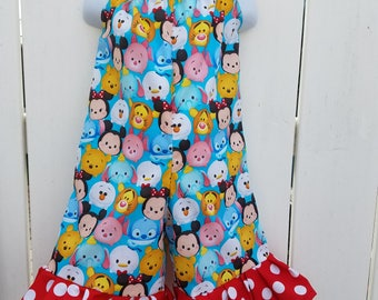 Size 3 Blue Tsum Tsum Shorts Romper READY to SHIP