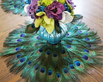 Superior Peacock Feather Place Mats Placemat Placemats Centerpiece Decoration Table  Decor Wedding Anniversary Birthday Bridal Shower Many