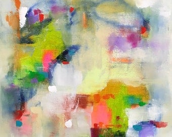 Colorful Abstract Painting- Spring Concert 20 x 20