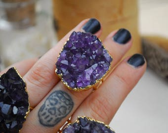 AMETHYST GALAXY RING
