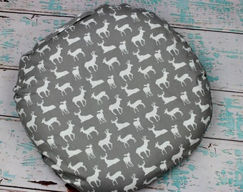 Woodland Deer Baby Lounger Cover, Gray and White Deer Lounger cover, Deer silhouette