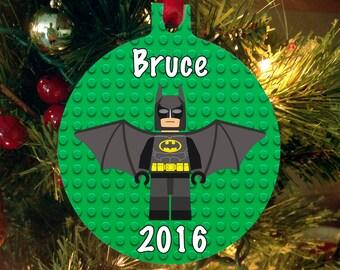 Personalized Christmas Ornament Lego Movie - Lego Movie Batman