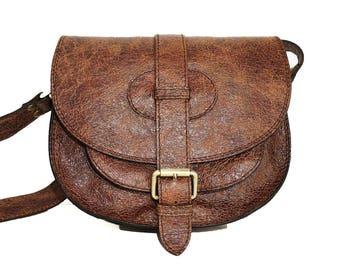 Leather Messenger Bag, Leather Saddle Bag, Leather Saddle bag, Brown Leather Bag, Leather Crossbody bag, Purse, Goldmann S, vintage brown