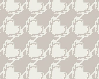 Deer houndstooth in fair from the Blithe fabric collection by Katarina Roccella for Art Gallery fabrics
