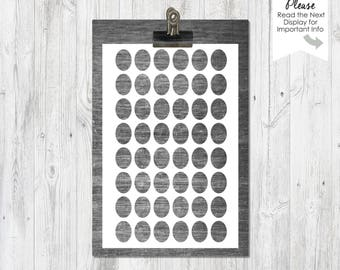12x16mm ovals,  4x6 sheet,PNG file, Instant Download