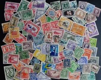 100 Pre 1950 Worldwide Mixed Postage Stamps Lot/Packet Mint and Used (j)