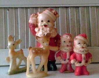Vintage Antique Gurley Tavern Christmas Wax Candles 0042