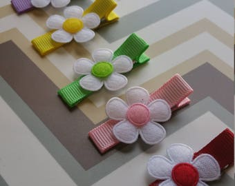 Flower Hair Clip Set Of 6/ Baby And Toddler Hair Clip / Ready To Ship