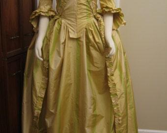 Silk Taffeta Gown & Petticoat sz 14