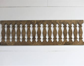 Vintage Inspired Window Porch Baluster Spindle Frame 42x12.5 Wood Cut Wall Art Sign Decor