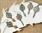 Delicate Gemstone Boho Earrings